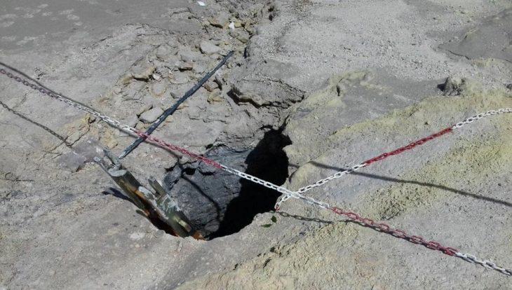 agujero cráter