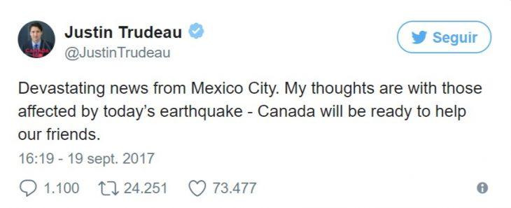 twits tras sismo mexico