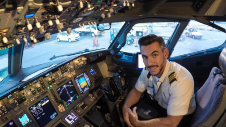 piloto selfie