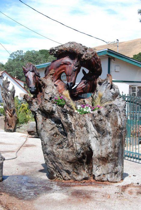 Grandes esculturas en madera