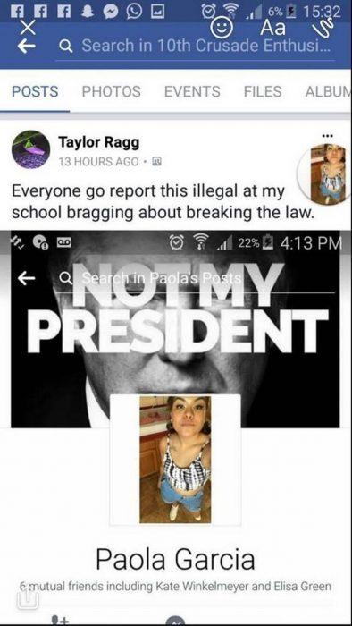 Intentó hacer que deportaran a su compañera de clase; lo expulsan a él
