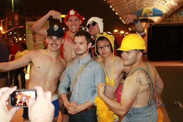 Elijah Wood con sus fans