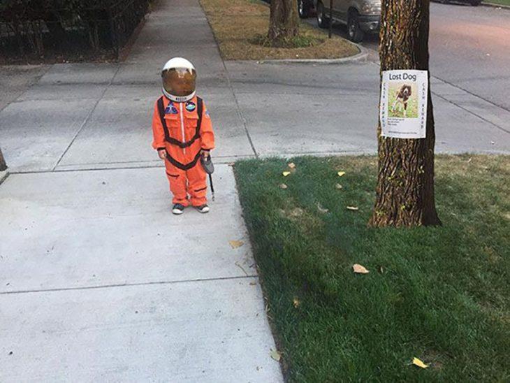 niño astronauta perro photoshop