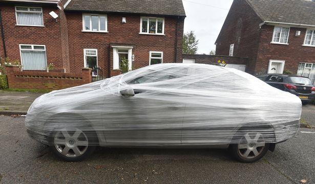 carro envuelto