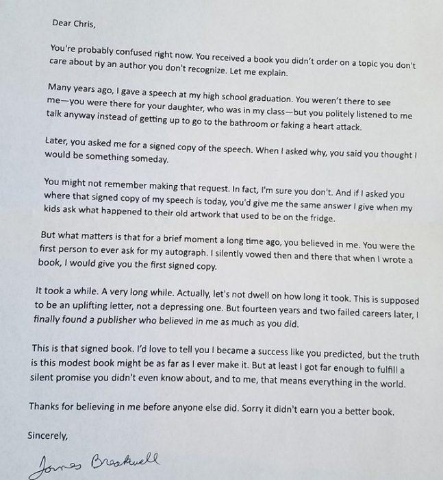 la carta 14 años después