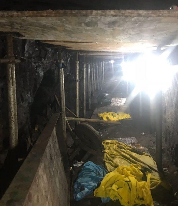 Tunel para robar banco en brasil