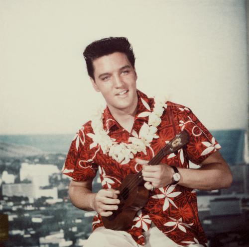 Elvis jugando uculele