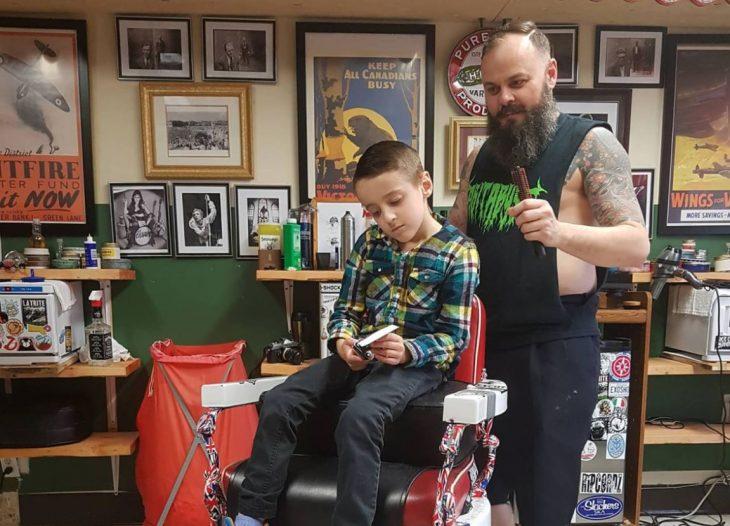 fotos niño autismo cortar cabello 5