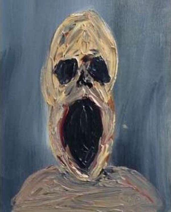 Pintura del Hombre angustiado