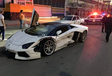 Lamborghini chocado