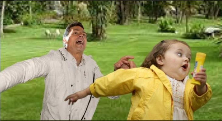 peña nieto meme niña corre