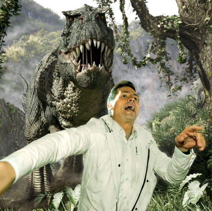 peña nieto meme dinosaurio