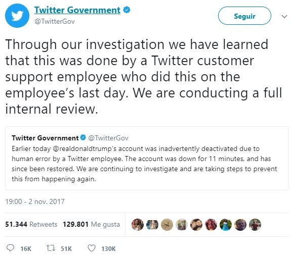 Trump cuenta cerrada