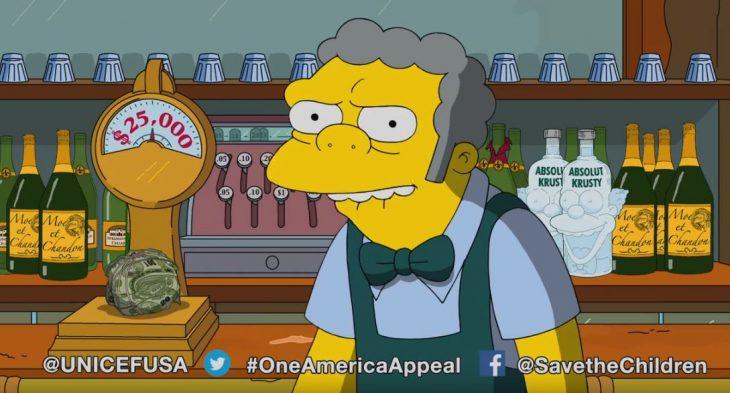 Moe de Los Simpson dona 25 mil a Puerto Rico