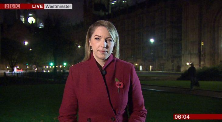 Emma Vardy, reportera de la BBC