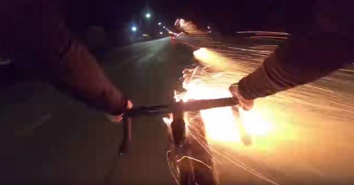 Bici lanza cohetes