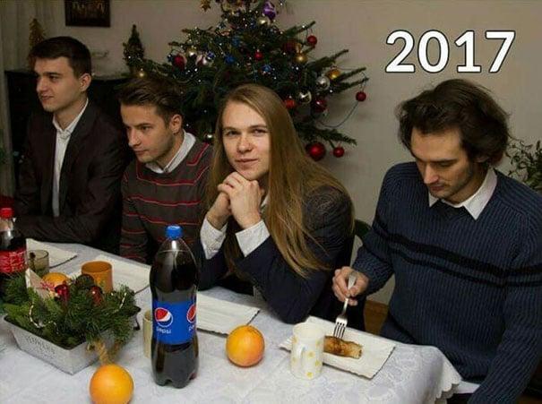 Amigos en Navidad