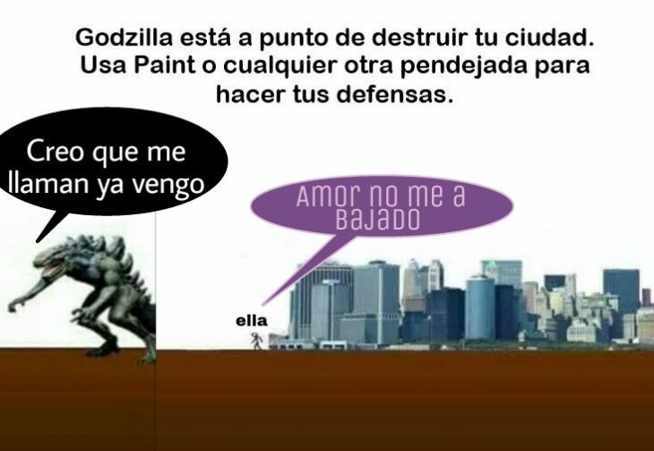 godzilla meme proteje ciudad