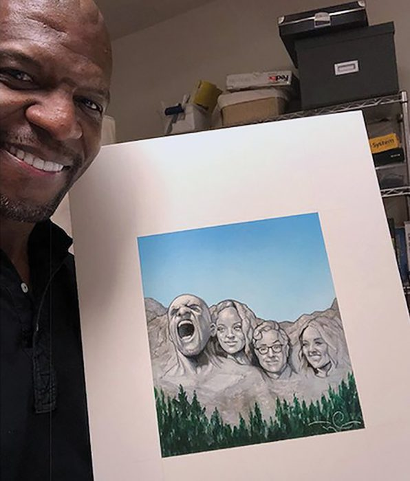Terry crews ilustrando