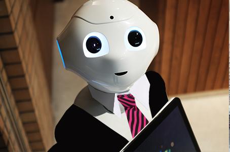 robot con traje
