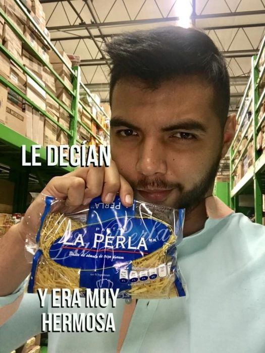 Historia con productos de supermercado