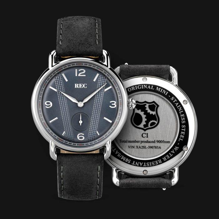 Reloj con partes de Mini Cooper
