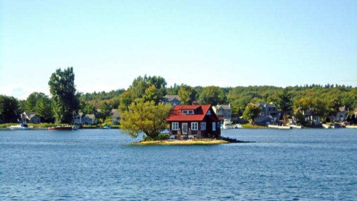 Casa en isla pequeña