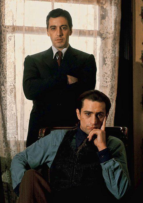 Al Pacino y Robert de Niro en El Padrino II