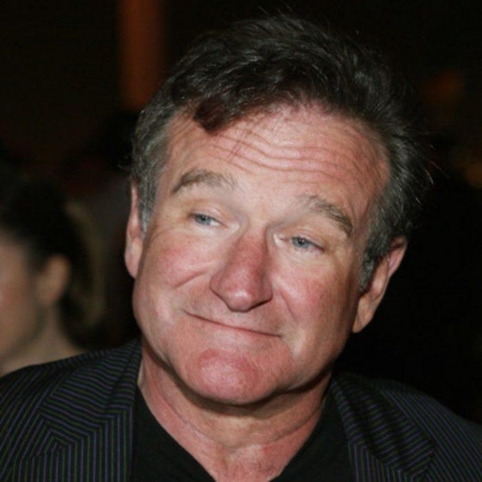 Robin Williams hace mueca