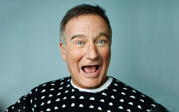 Robin Williams sonriendo