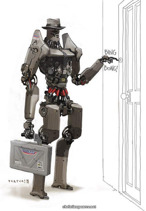 representante de ventas robot