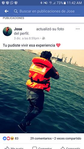 Publicación en Facebook