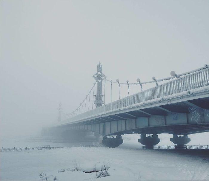 Oymyakon frio en rusia