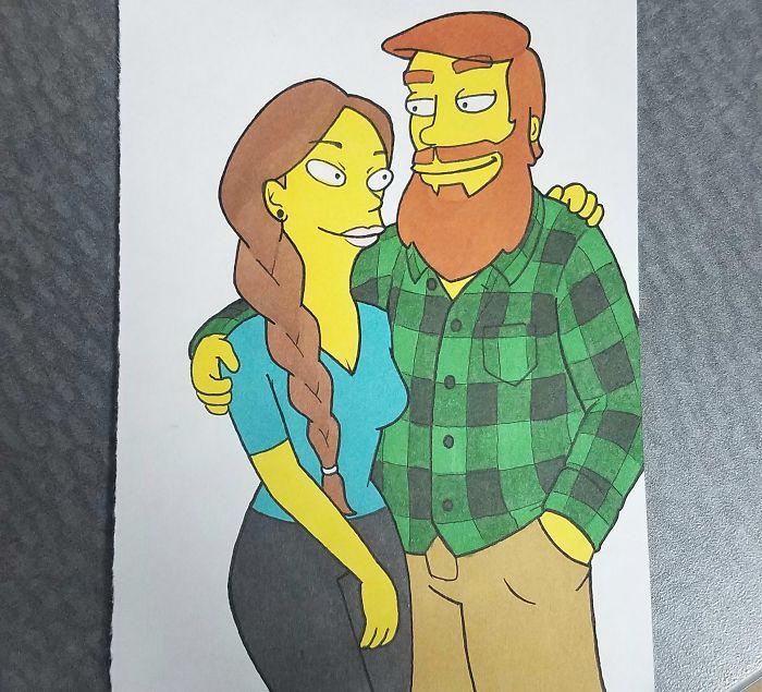 Pareja como Los Simpson