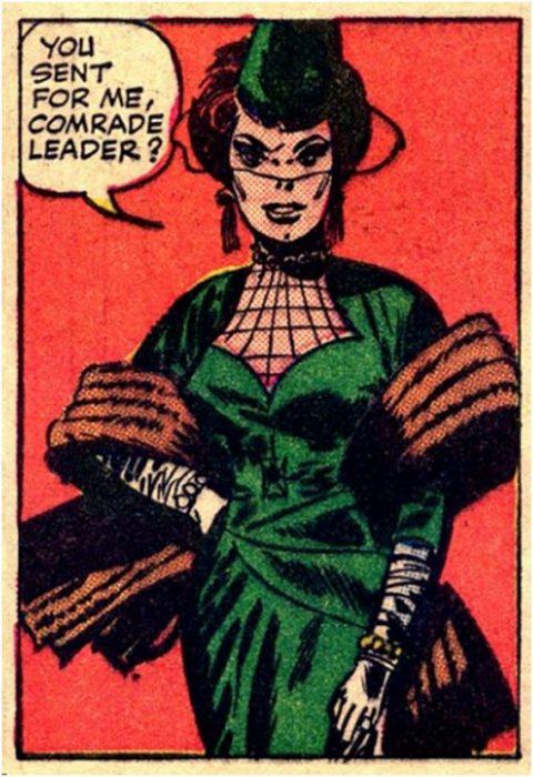 Viuda Negra en cómic de 1964