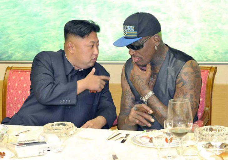 Kim Jong un con Dennis Rodman