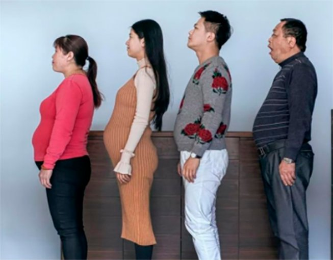 Familia china obesa