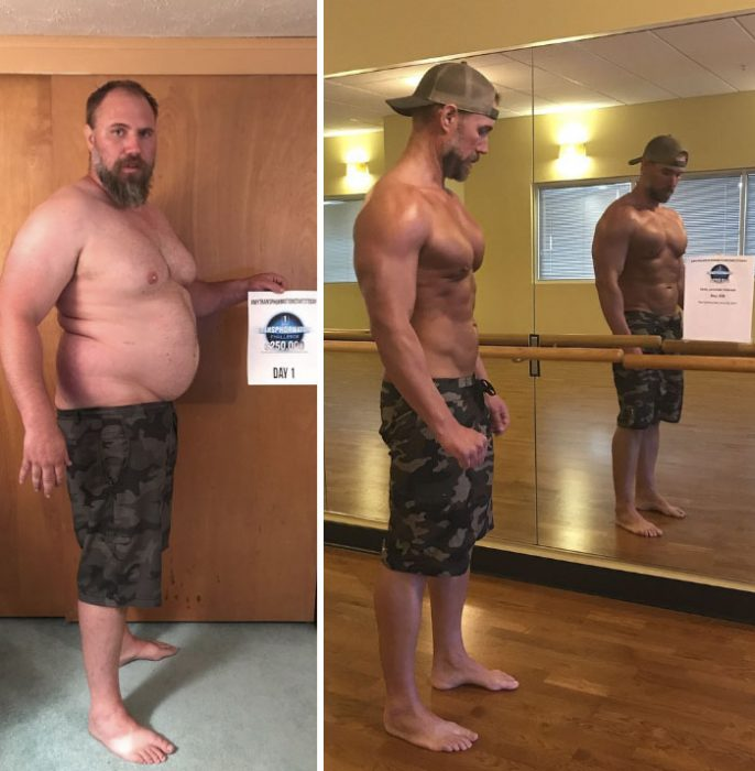 padre transformó su cuerpo por sus hijos