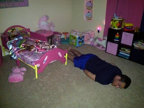 papa dormido