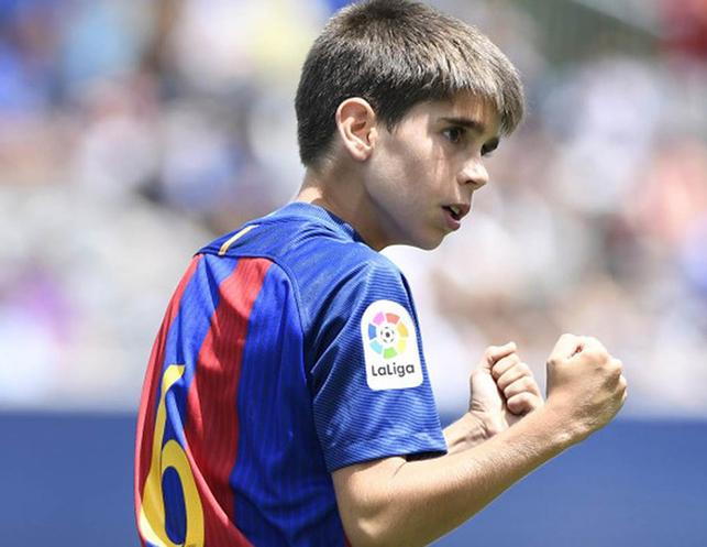 Jugador infantil del Barcelona