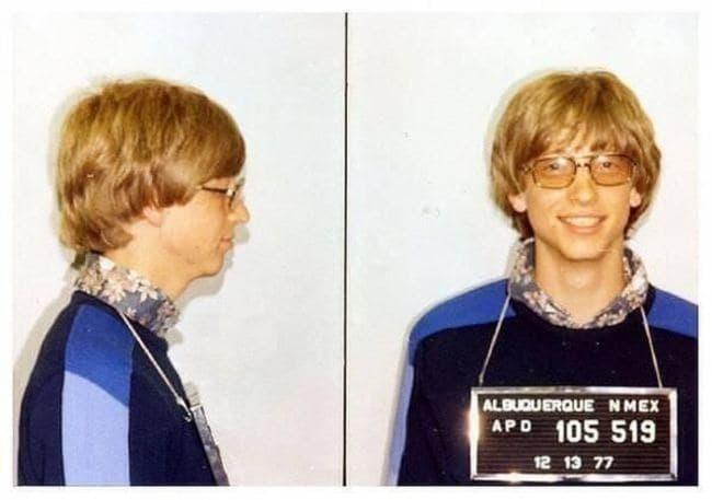 bill gates arrestado joven