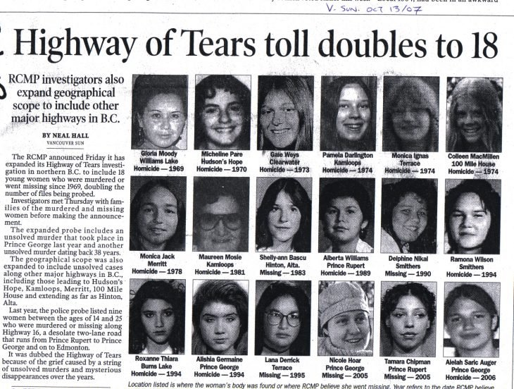 asesinato de la tears highway