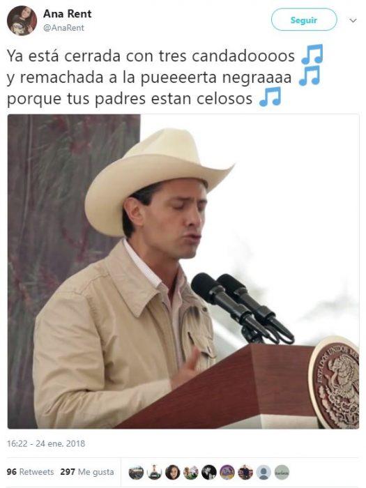 peña canta sombrero meme