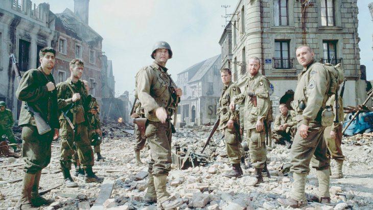 Escena de Rescatando al Soldado Ryan