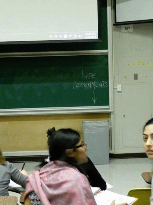 En el salón de clases