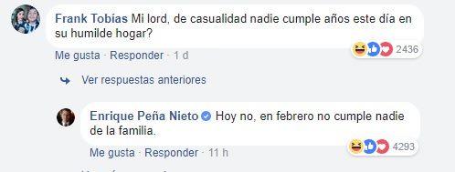 Peña nieto responde