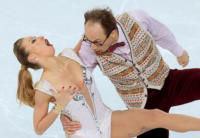 caras graciosas patinadores olímpicos