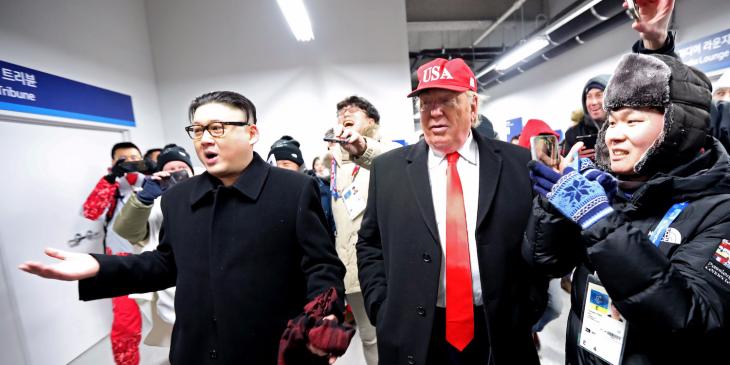 Dobles de Trump y Jong-un