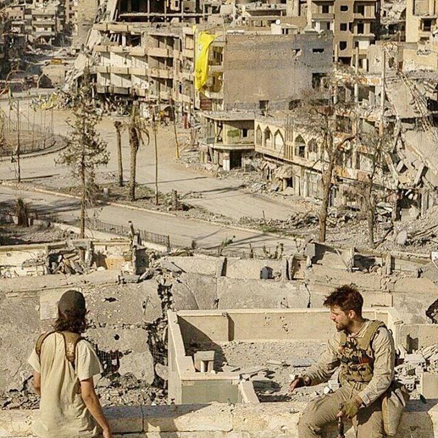 Combatientes en Raqqa