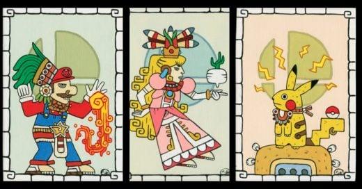 cOVER Así lucirían algunos personajes de Nintendo si vivieran en la cultura Maya